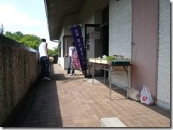 赤津会館でパン販売風景